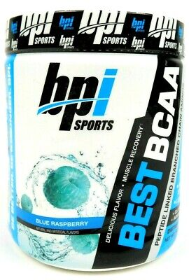 BPI Sports Best BCAA Blue Raspberry Natural Lean Muscle Dietary Supplement