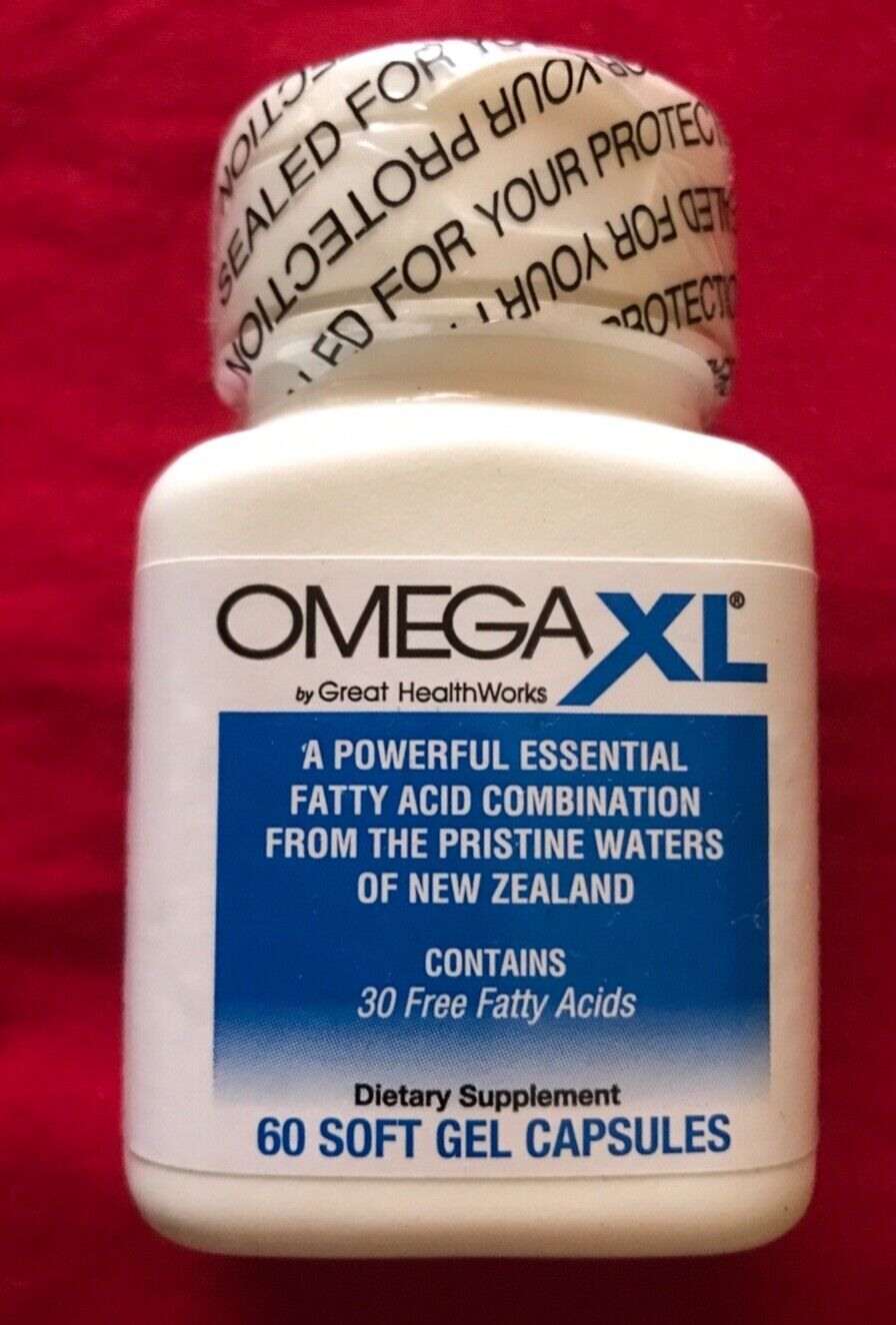 Great HealthWorks Omega XL Fatty Acids Capsules - 60 capsules !!!