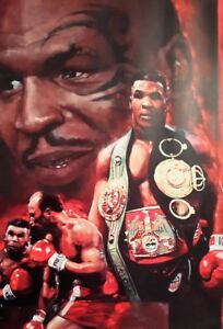 MIKE TYSON BOXER BOXING A4 POSTER PICTURE PRINT A4 WALL ART MONTAGE