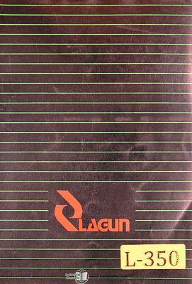 Lagun Ftv-4l Milling Machine Operations And Parts Manual
