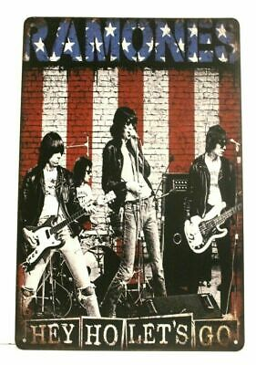 New The Ramones Tin Metal Concert Poster Sign Vintage Advertising Style Man Cave