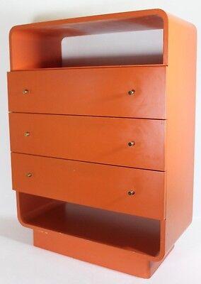 70s Kommode 70er Space Age  Vintage Orange TOP (Bür)