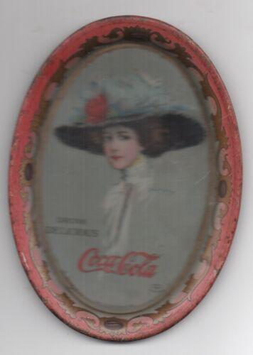 Original 1909 Hamilton King Girl Coca Cola Tip Tray