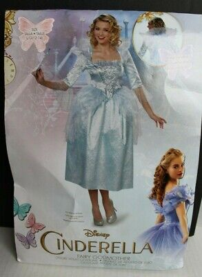 Disney Fairy Godmother Costume (DISNEY Fairy Godmother Deluxe Adult Costume Womens Size Large 12-14 NEW Orig)