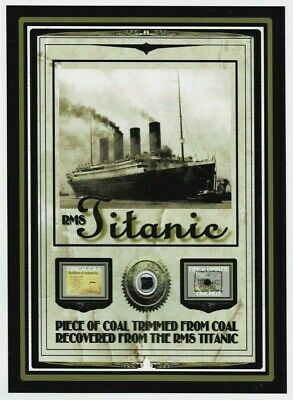 Actual TITANIC COAL relic piece, DOCUMENTED genuine from 1912 disaster sinking