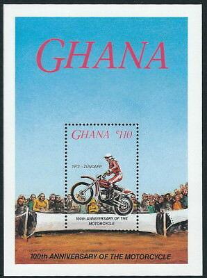 Ghana - 100 Jahre Motorräder Block 118 postfrisch 1985 Mi. 1106