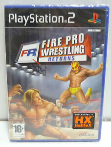 FIRE PRO WRESTLING RETURNS (PS2) NEW SEALED PAL RARE