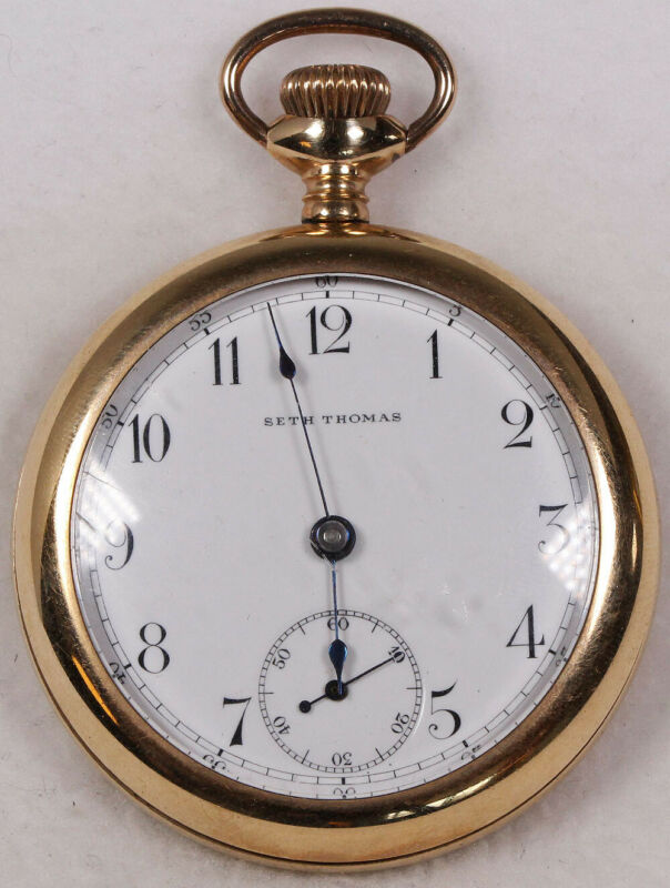 Seth Thomas Pocket Watch 18 Size Gold-Filled Open-Face - Working