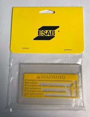 Esab 0700000808 Clear Inside Cover Lens For Sentinel A50 Helmet Pack Of 5