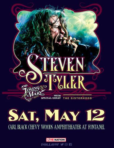 STEVEN TYLER/LOVING MARY/SISTERHOOD 2018 NASHVILLE CONCERT TOUR POSTER-Aerosmith