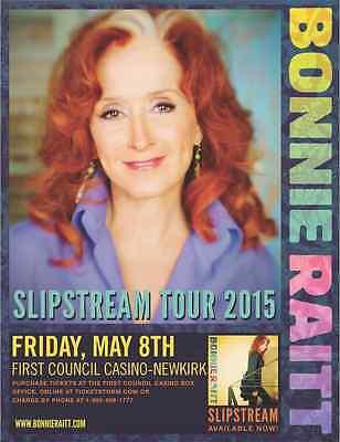 """BONNIE RAITT """"SLIPSTREAM TOUR 2015"""" OKLAHOMA CONCERT POSTER - Blues Music"""
