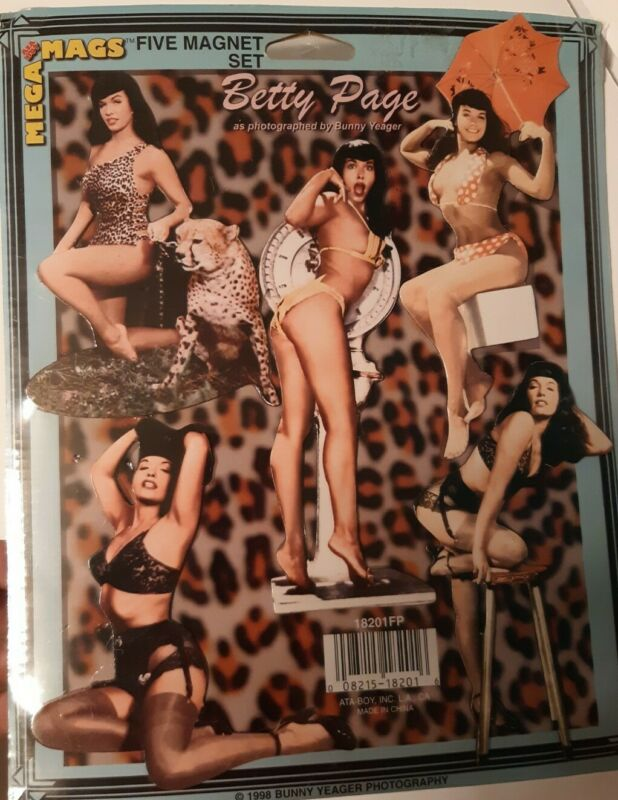Betty Page - Five Magnet Set - Mega Mags 1998