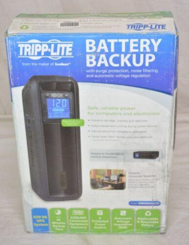 Tripp Lite OmniSmart 650VA Digital UPS Black OMNI650LCD