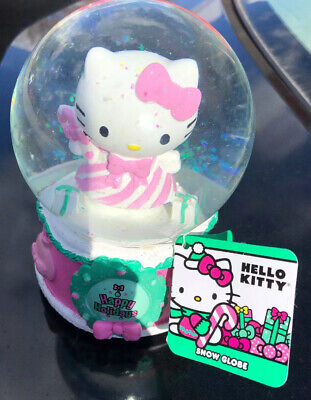 NEW 2019 Hello Kitty Christmas Snow Globe Musical Happy Holidays Figure Sanrio ()