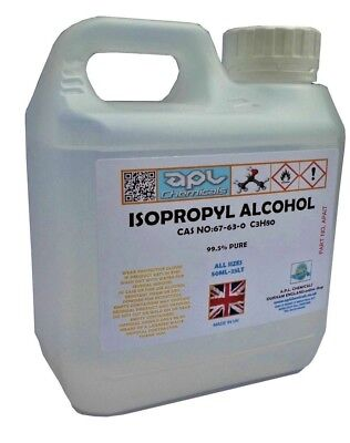 IPA Isopropyl Alcohol 99.9% Pure 5 Litre (5L) propanol solvent. alcohol solvent