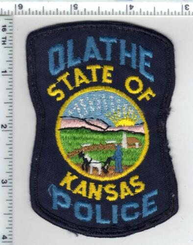 Olathe Police (Kansas) uniform take-off patch from the 1980