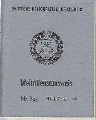 DDR GDR Ausweis Wehrdienstausweis NVA Nationale Volksarmee Dienstbeginn 1953