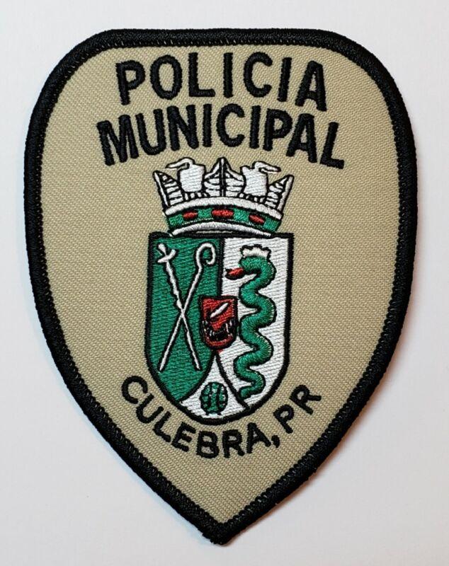 VINTAGE PUERTO RICO POLICE PATCH / POLICIA MUNICIPAL CULEBRA PR / RARE