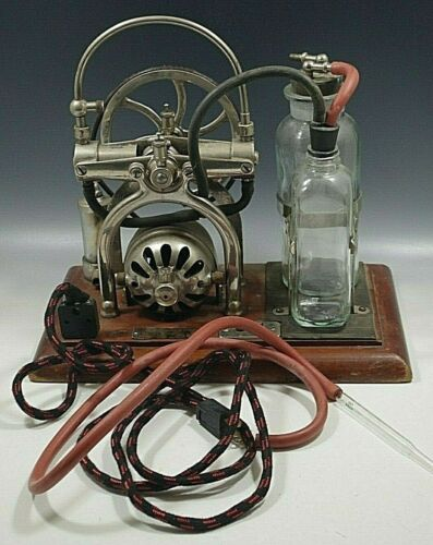 C.M  SORENSEN ANTIQUE EMBALMING MACHINE 7859 WITH WOODEN CASE ELECTRIC 1920