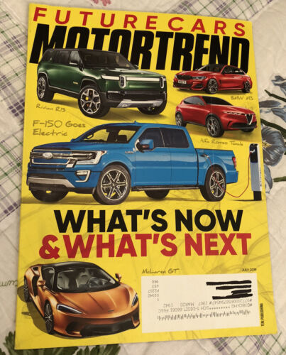 Motor Trend July 2019 What s Now And What s Next Future Cars - $3.00