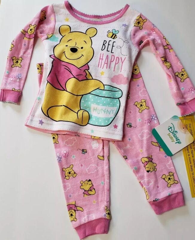 Disney Winnie the Pooh Toddler Girls 2 pc. Pink Pajama Sets Various Sizes NWT