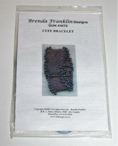 Brenda Franklin Designs Knitted BEADED CUFF BRACELET