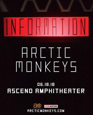 "ARCTIC MONKEYS ""INFORMATION"" 2018 NASHVILLE CONCERT TOUR POSTER-Indie Rock Music"