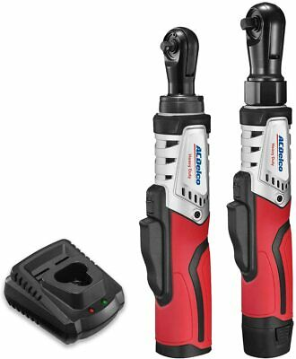 "ACDelco 12V 1/4"" & 3/8"" Brushless Ratchet Wrench Combo Tool"