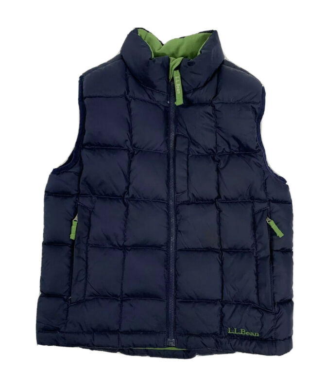 Boys L.L. Bean Size 6x - 7 Down Quilted Puffy Vest
