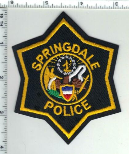 Springdale Police (Arkansas) 3rd Issue Shoulder Patch