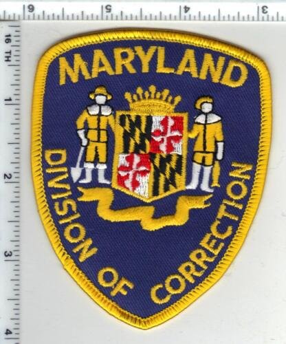 Division of Correction (Maryland) shoulder patch from the 1980