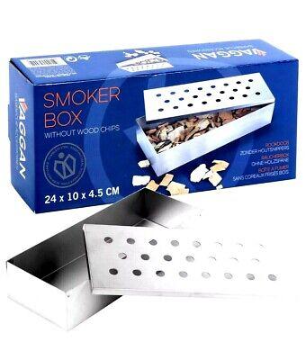 Räucherbox für BBQ Smoker Grill Aromabox Oudoor Kochen Grillen Barbecue Rauch