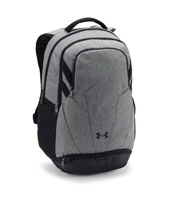 NEW NWT Under Armour UA Team Hustle 3.0 Backpack Bag Grey 1306060 040