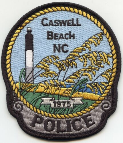 CASWELL BEACH NORTH CAROLINA NC Lighthouse POLICE PATCH