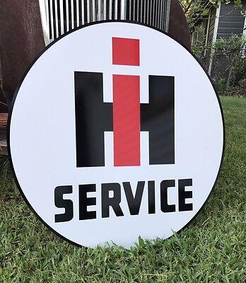 """Antique Vintage Old Look International Harvester Service Sign Porcelain Look 24"""""""