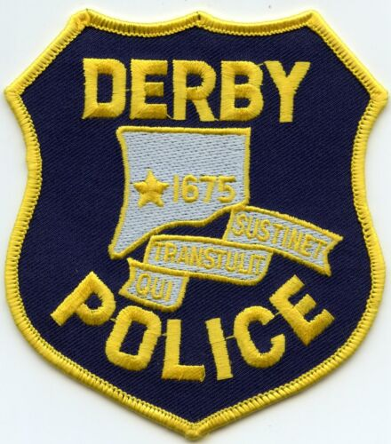 DERBY CONNECTICUT CT Yellow Border POLICE PATCH