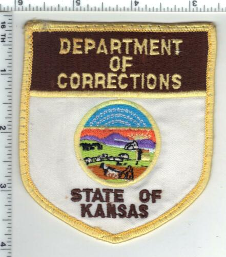 Department of Corrections (Kansas) uniform take-off patch from the 1980