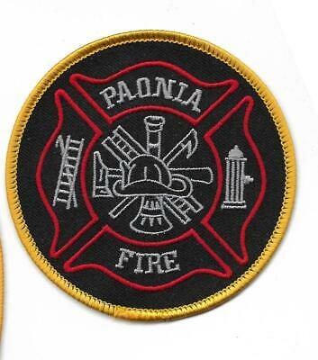 Fire Department COLORADO Patch PAONIA  Rocky Mountains USA Feuerwehr Abzeichen - Rocky Mountains Colorado