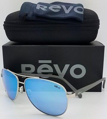 NEW Revo Shaw sunglasses RE 5021 03 BL 61mm Chrome Blue Mirror Polarized (Revo Aviators)