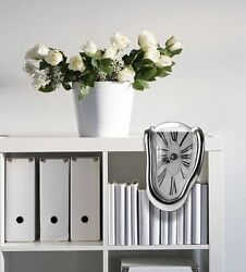 Melting Wall Clock Unique Gift Home Decor Vintage Retro Novelty Fun Creativity