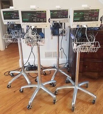 Welch Allyn 6200 W Bp Temp Pulse Ox Ecg Power Supply Cart- Tested
