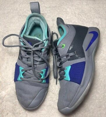 723ae6e485e Nike PG 2 GS II Paul George Safari Neo Turquoise Kid Youth Basketball 943820 -002