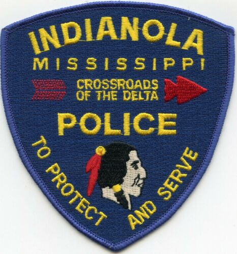INDIANOLA MISSISSIPPI MS Crossroads of The Delta INDIAN POLICE PATCH