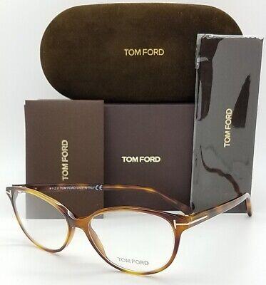 NEW Tom Ford RX Prescription Glasses Tortoise FT5421/O 053 55mm GENUINE Cats (Tom Ford Cat Eye Prescription Glasses)