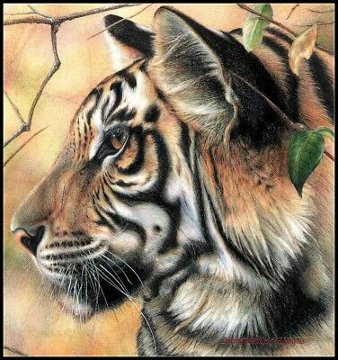 Tiger Cross Stitch Pattern - Potrait of Tiger - Chart Counted Cross Stitch Pattern Needlework DIY DMC Color