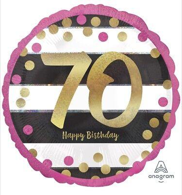 70th Birthday Pink & Gold 18