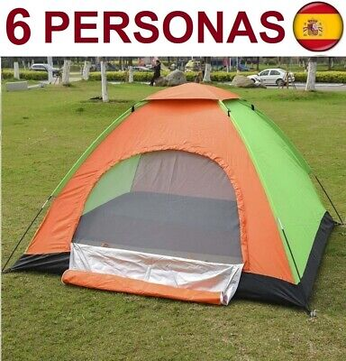Tienda de campaña para 6 plazas personas impermeable acampada camping carpa iglú