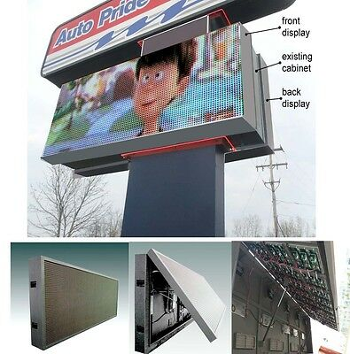 Led Programmable Electronic Sign Billboard For Store Front 4x7 Pitch 12mm