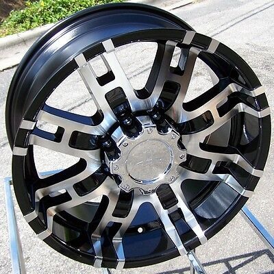 "20"" BLACK HELO HE835 WHEELS RIMS CHEVY SILVERADO SIERRA HD RAM 2500 3500 DIESEL"