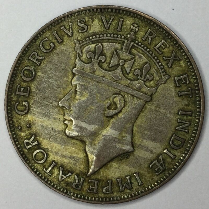 1944 SA East Africa Silver Shilling XF #